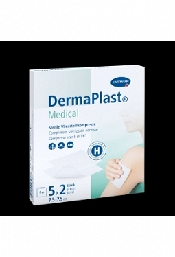 DERMAPLAST Medical Vlieskompresse 5 Stk