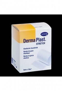 DERMAPLAST STRETCH Gazebinde weiss 6cm..