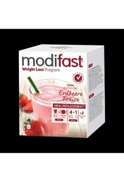 MODIFAST Programm Drink Erdbeere 8 x 5..