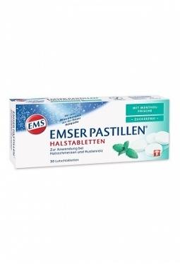 EMSER Pastillen zuckerfrei mit Menthol..
