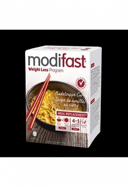 MODIFAST Programm Nudelsuppe Curry 4 x..